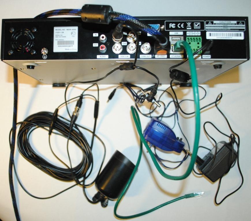 подключение кабелей к видеорегистратору
