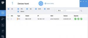 IP адрес в программе ConfigTool